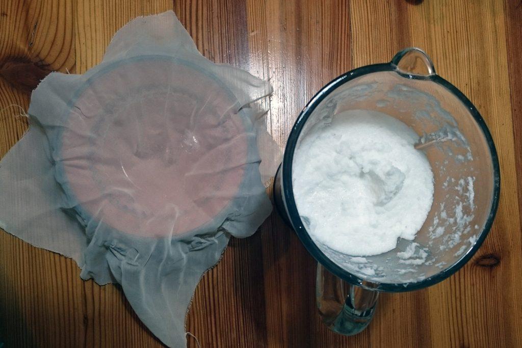 coconut milk recipe homemade strain cheesecloth