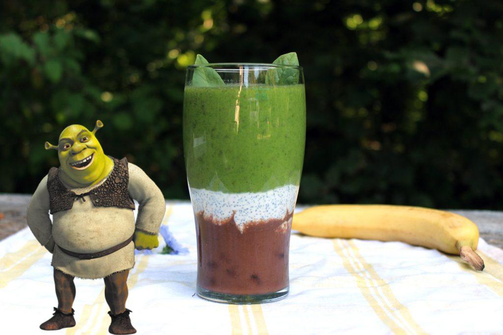 best green smoothie for kids spinach banana dates shrek