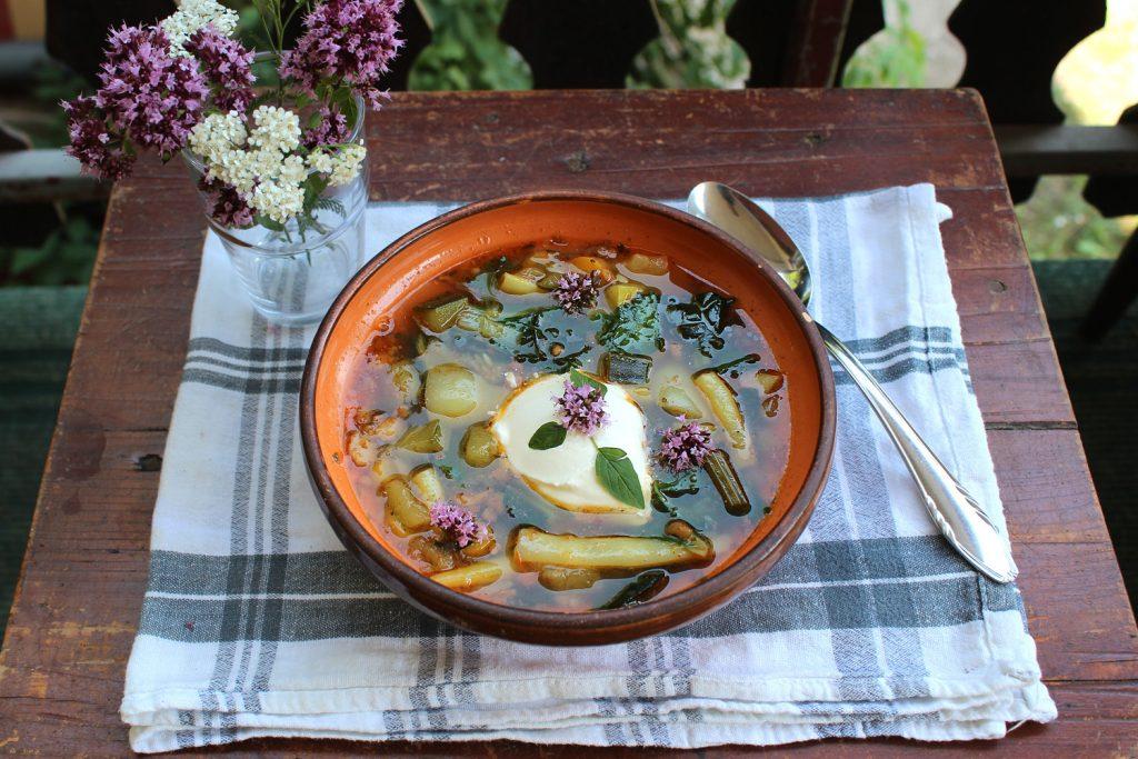 vegetable soup vrecipe vegan healthy homemade homegrown