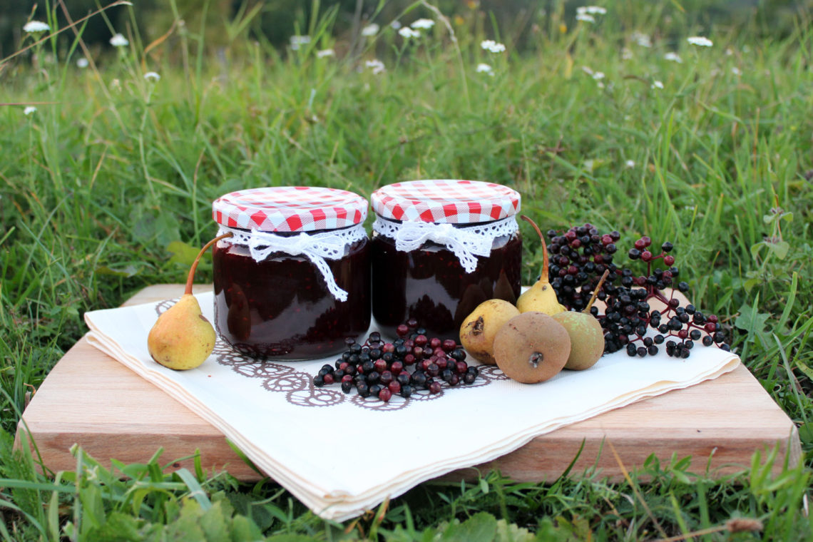 Elderberry and Pear Jam