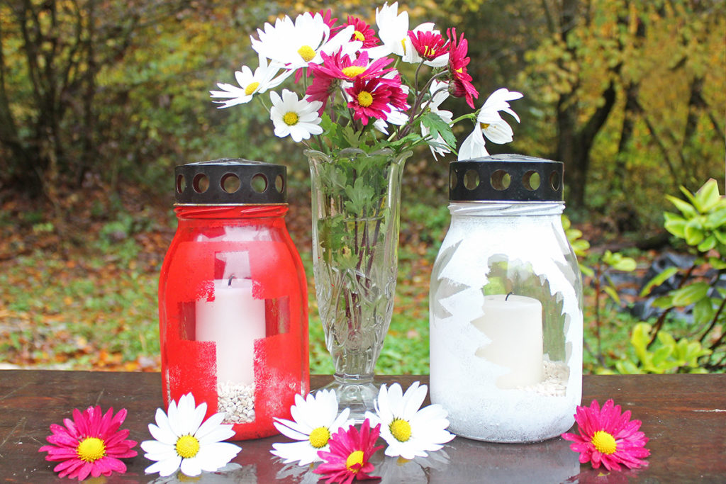 glass grave candle diy how to make