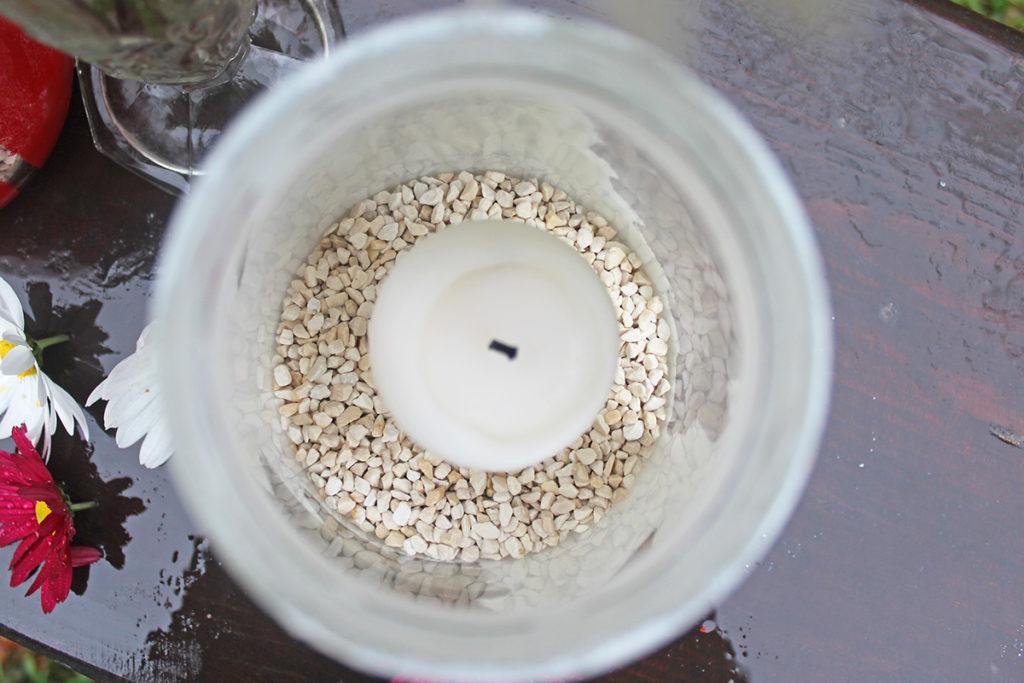 canning jar candle holder diy