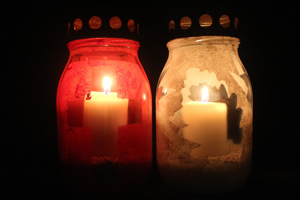 glass grave candle canning jar diy glass plastic free